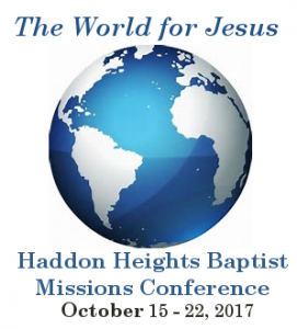 The World for Jesus @ Haddon Heights Baptist Church | Haddon Heights | New Jersey | United States