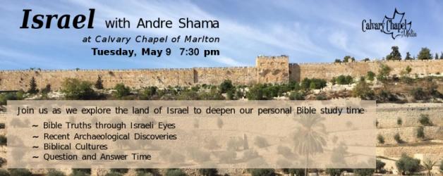 Andre Shama – May 9, 7:30pm